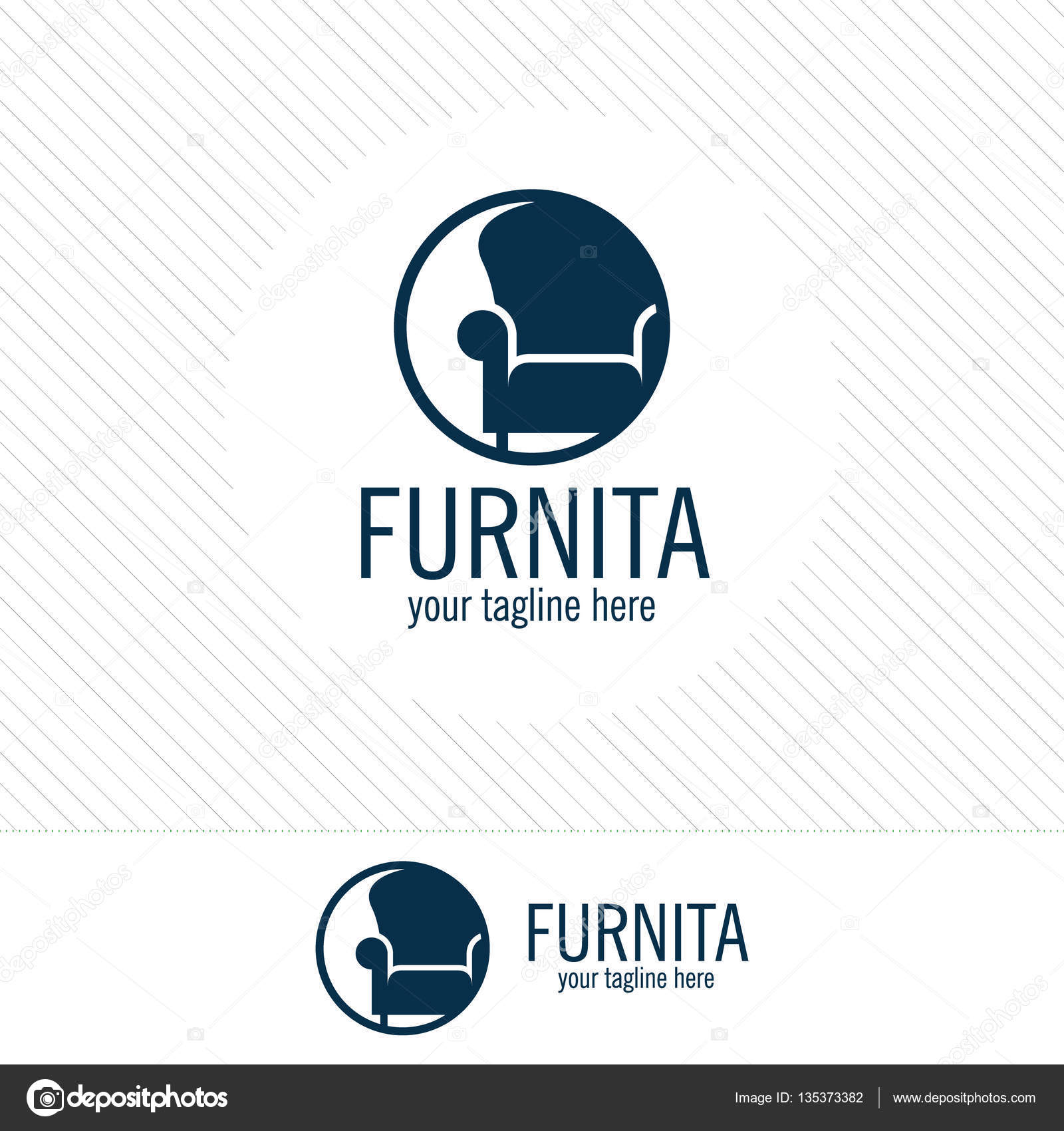 Abstract furniture logo design concept Symbol and icon of chairs
