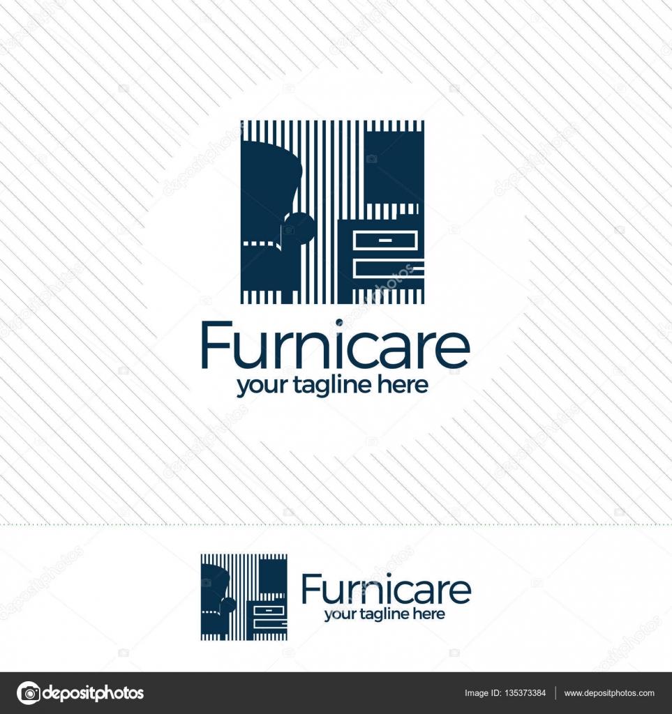 abstrakte möbel-logo-design-konzept. symbol und ikone der stühle