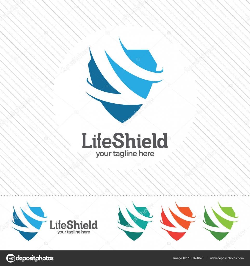 Shield security logo design vector. Security guard symbol ...