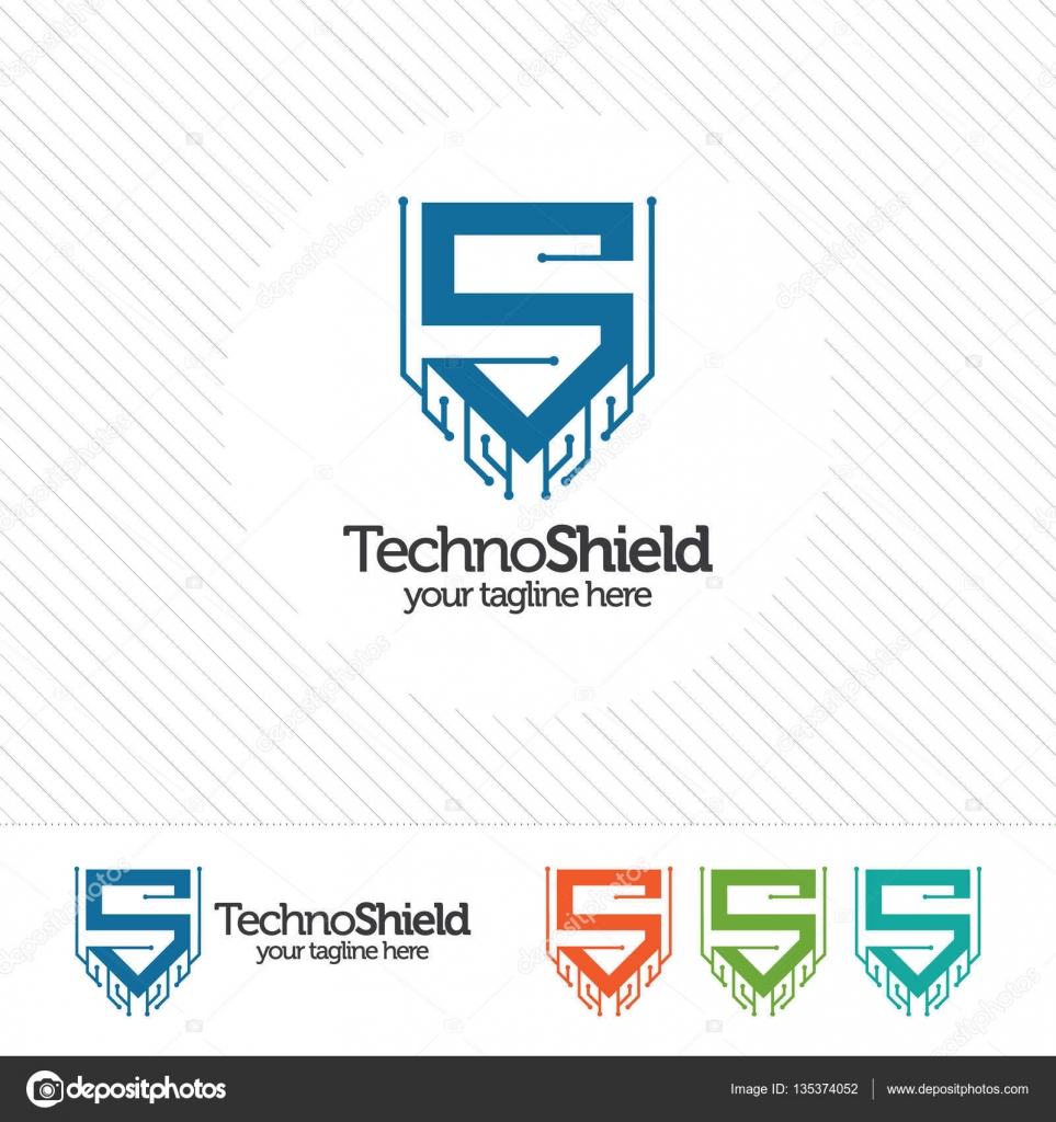 shield security logo design vector security guard symbol