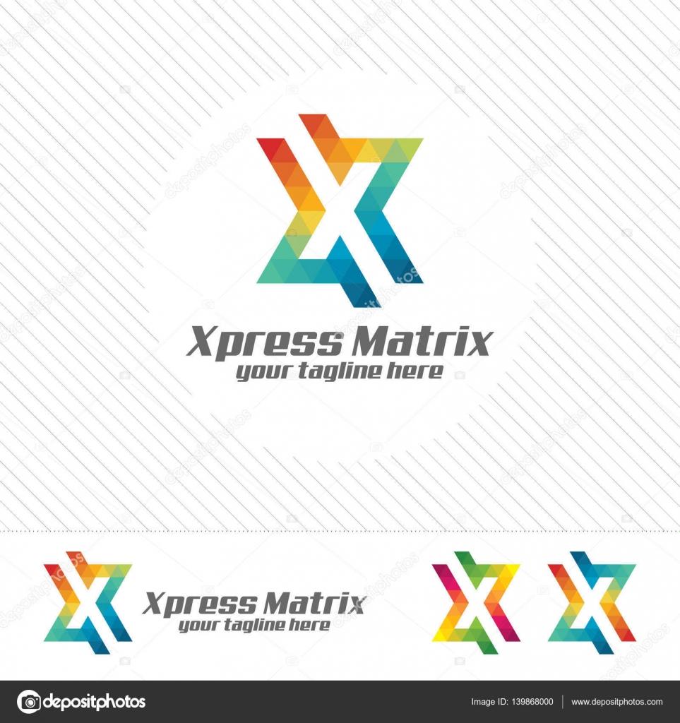 Colorful Letter X Logo Design Vector For Technology Digital Logo Pixel Concept With Shades Gradient Color Stock Vector C Mahabiru 139868000