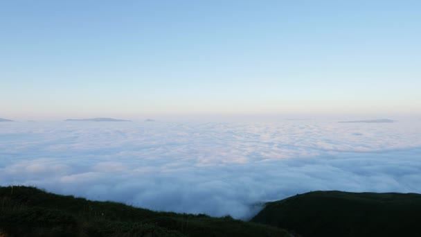 Aerial view:Mountains in the morning Fog