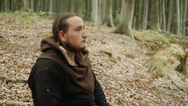 Porträt eines mittelalterlichen Wikinger-Kriegers