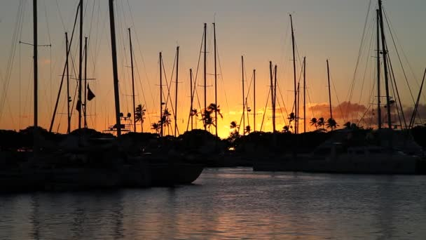 Honolulu Harbor při západu slunce