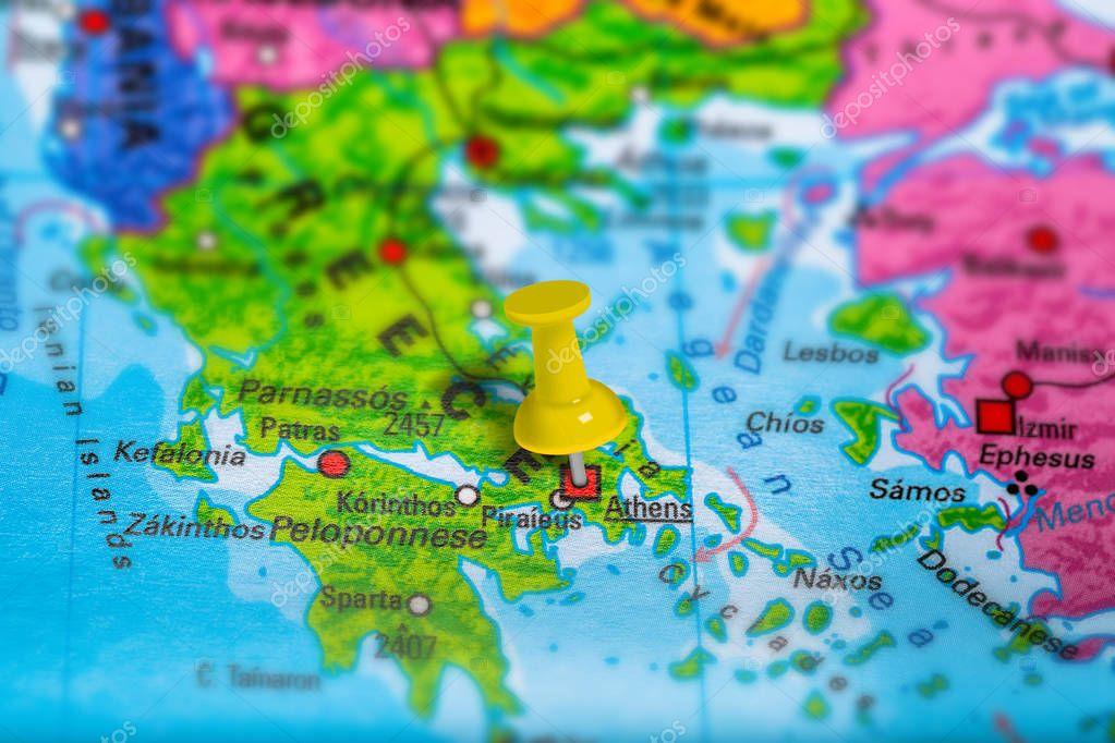 Karta Aten Grekland.Aten Grekland Karta Stockfotografi C Bennymarty 129222932