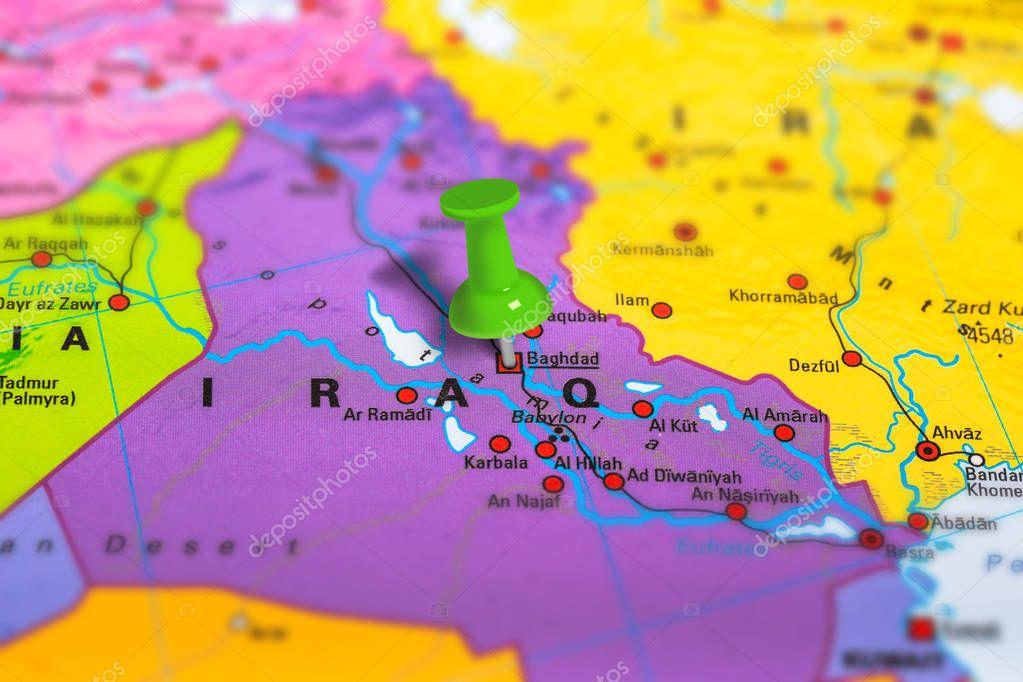 Baghdad Iraq map — Stock Photo © bennymarty #129254912
