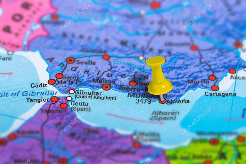 Map Of Spain Almeria.Almeria Spain Map Stock Photo C Bennymarty 129254966