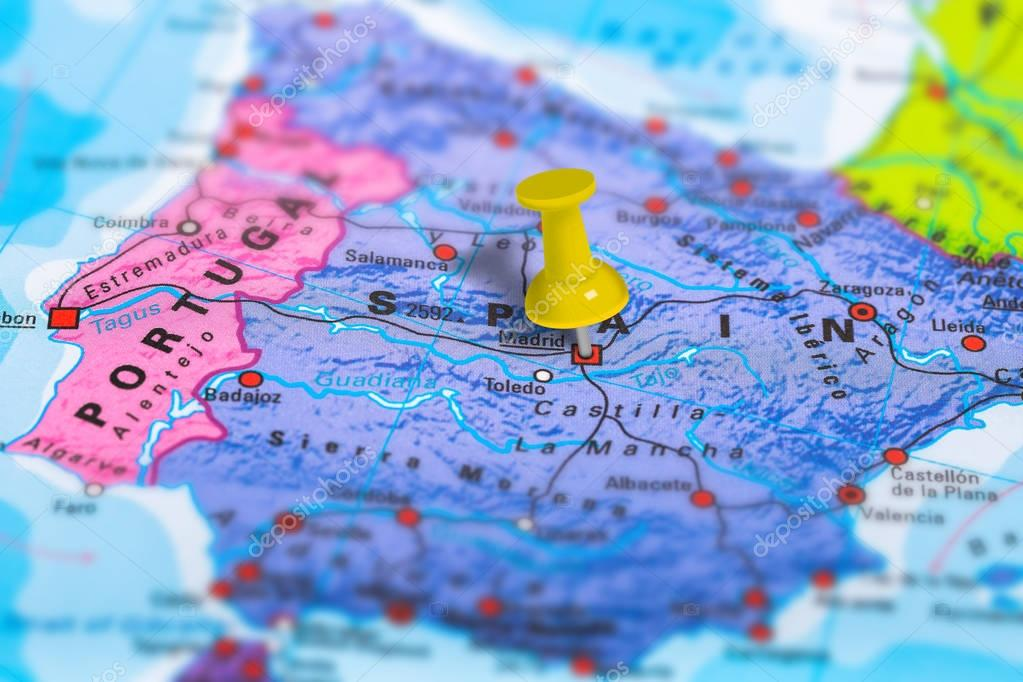 Madrid Spain map — Stock Photo © bennymarty #129255106