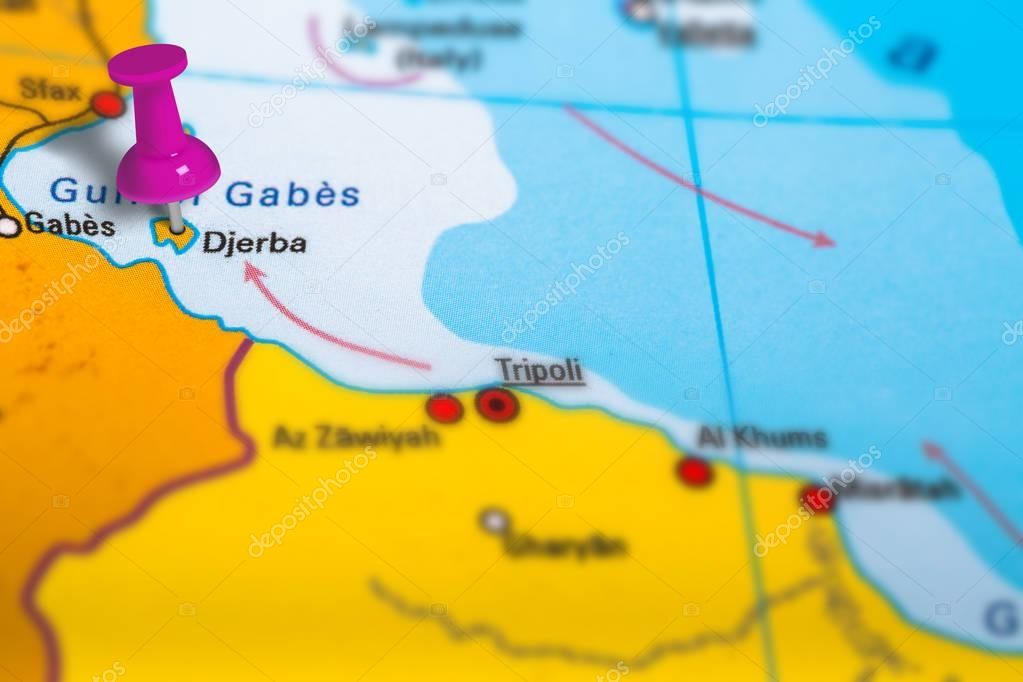 Tunesien Karte.Djerba Tunesien Karte Stockfoto C Bennymarty 130061404
