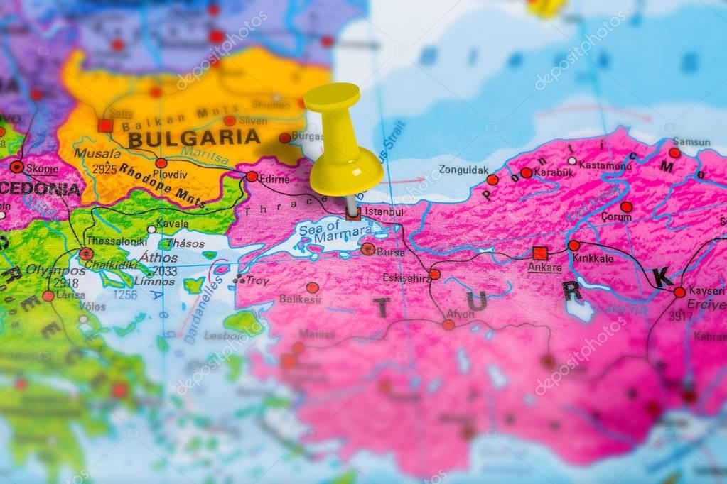 Istanbul Turkey map — Stock Photo © bennymarty #130062124