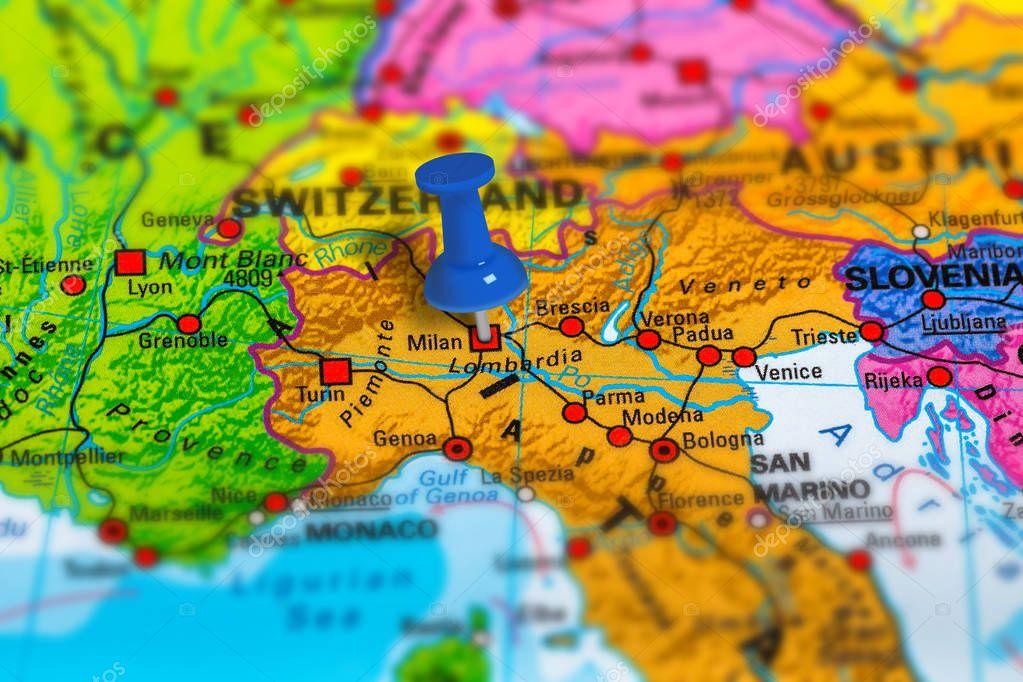 Milan Italy map — Stock Photo © bennymarty #130277518
