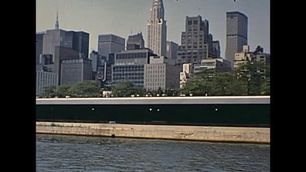 Vintage panorama New Yorku