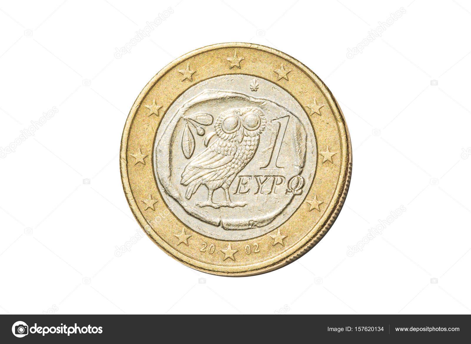 Griechischen 1 Euro Münze Stockfoto Bennymarty 157620134