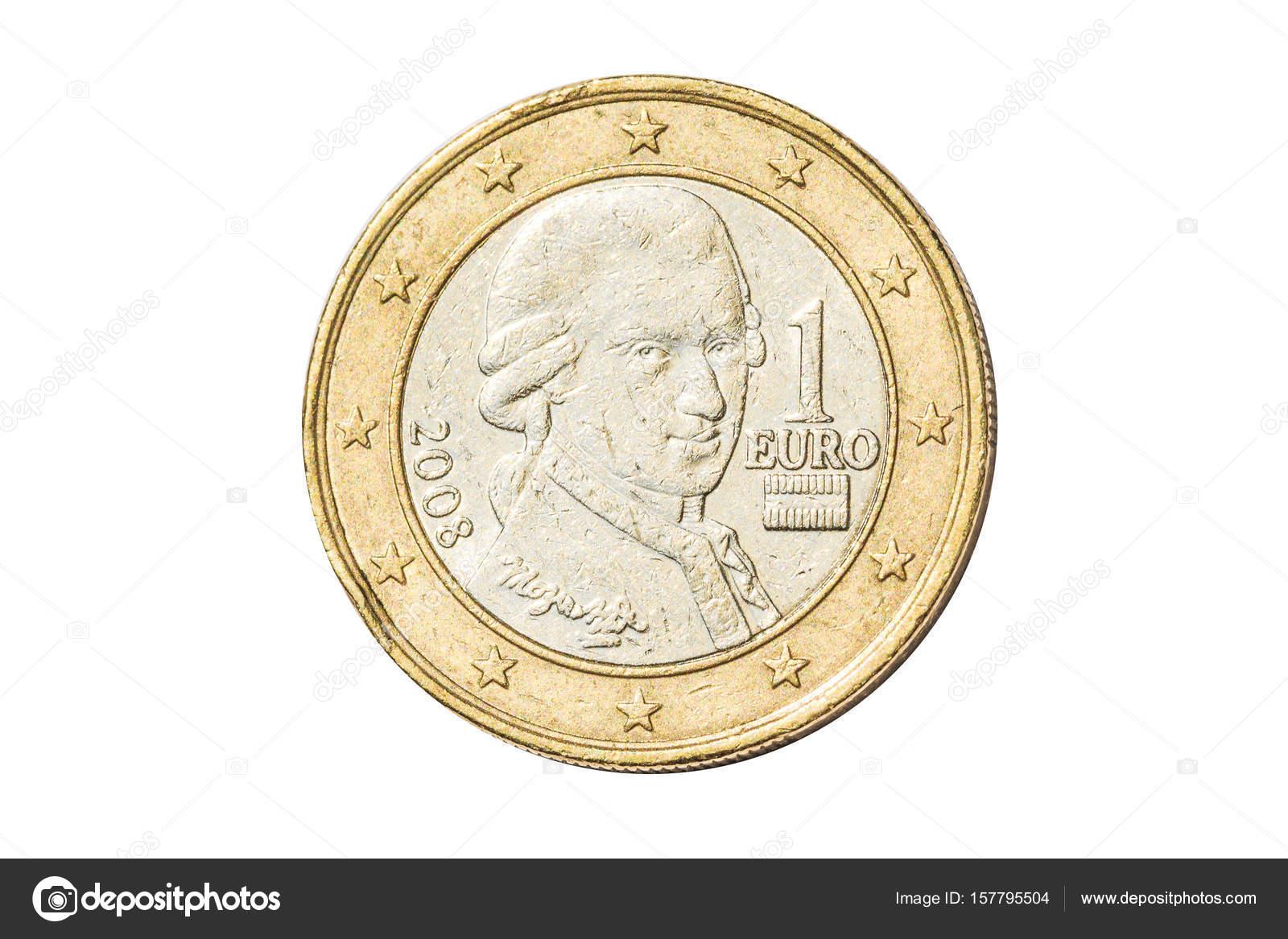 österreichischen Ein Euro Münze Stockfoto Bennymarty 157795504