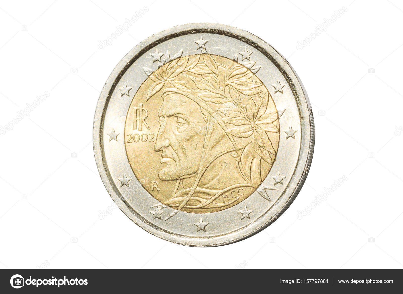 Italienische 2 Euro Münze Stockfoto Bennymarty 157797884