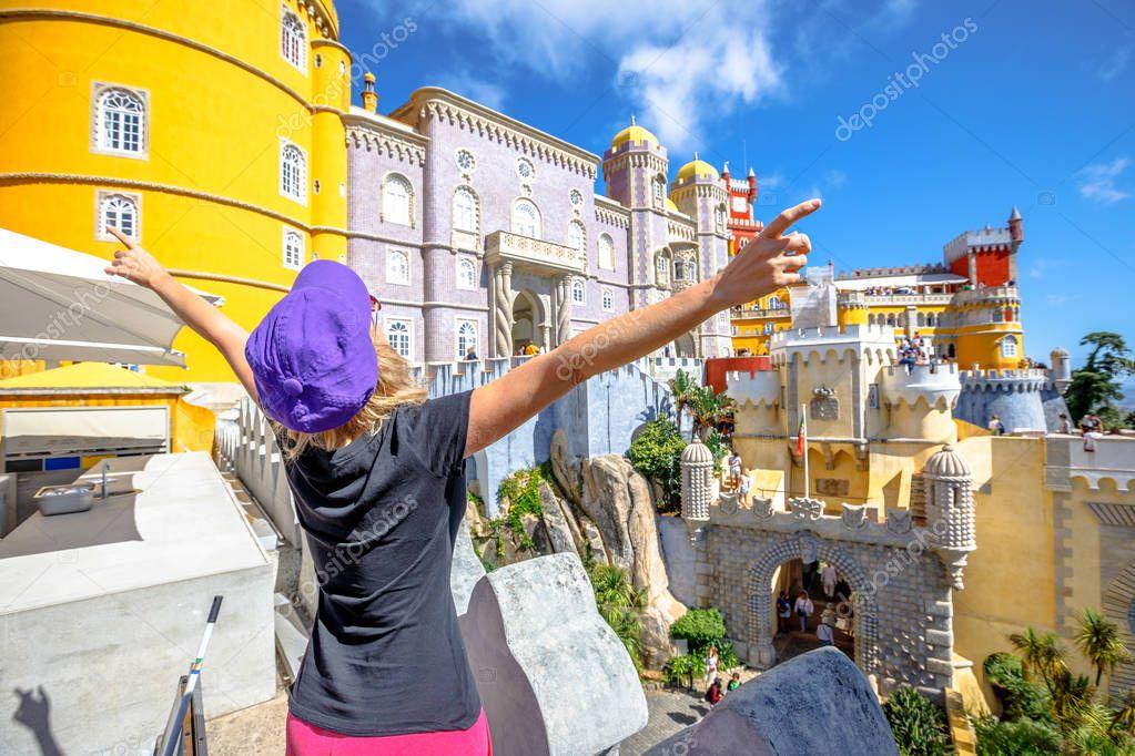 Sintra Pena Palace woman