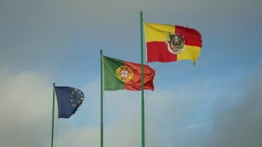 Nazare Portugal Flags