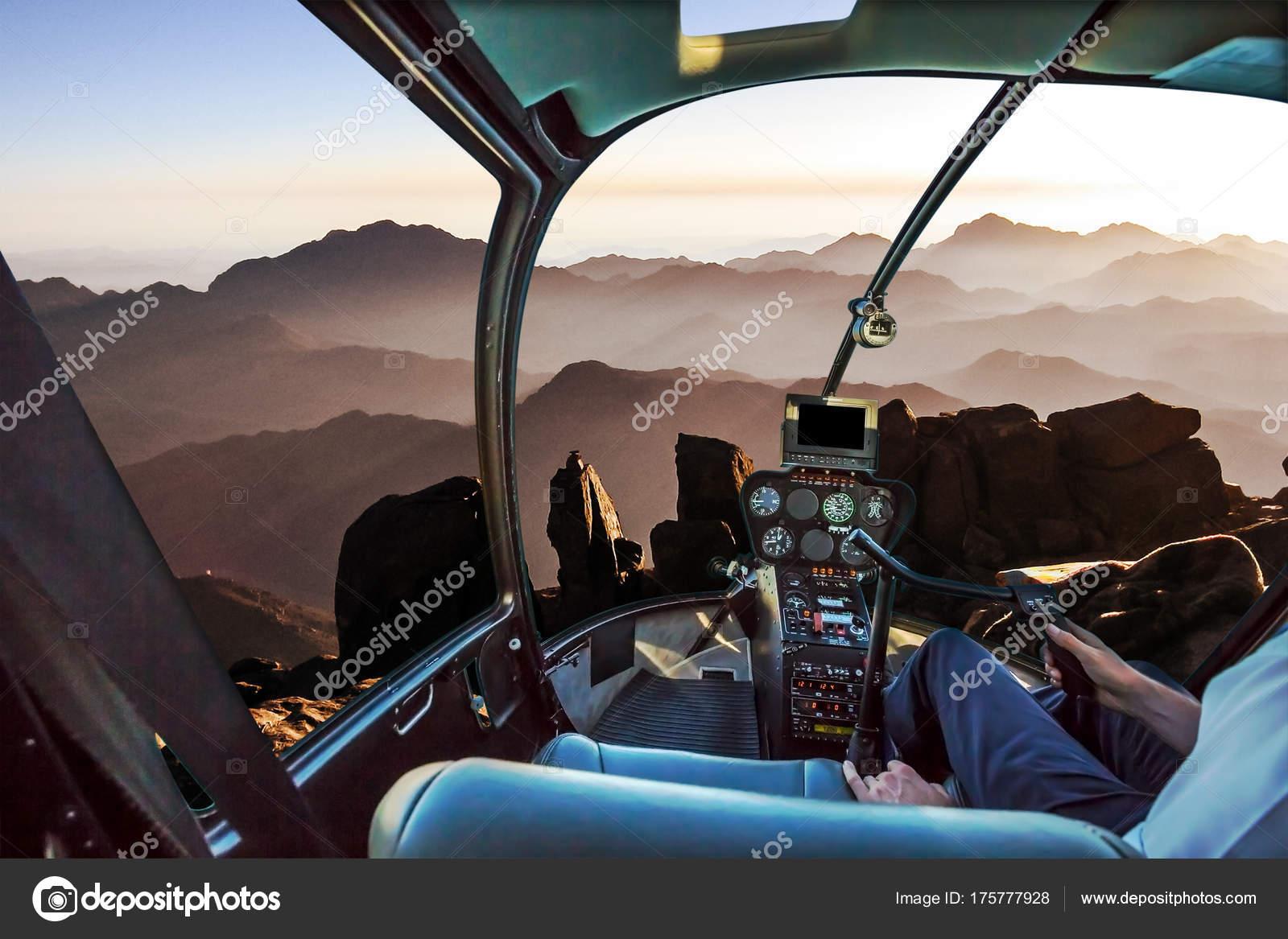 Elicottero Interno : Monte sinai elicottero u foto stock bennymarty
