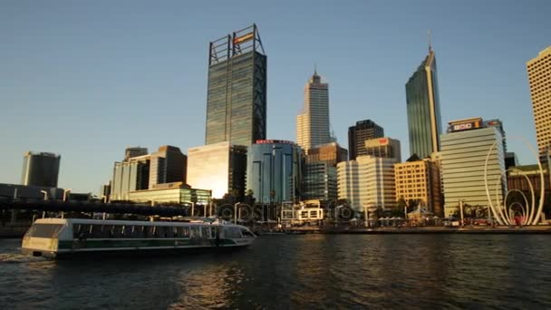 Perth skyscrapers at sunset