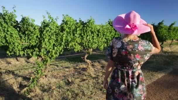 Vinné farmě žena