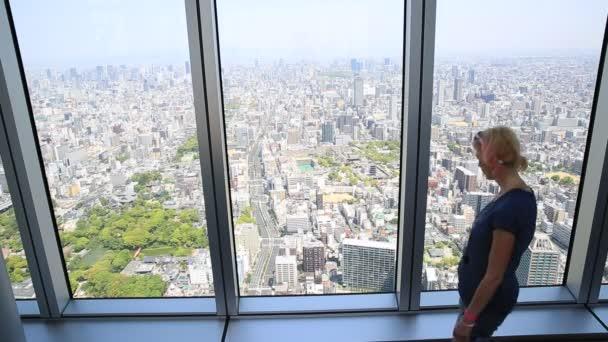 Panoráma města Osaka žena