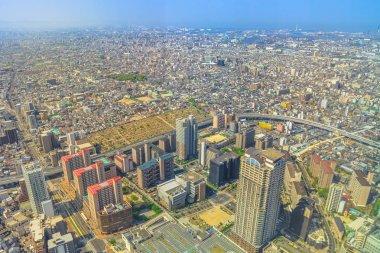 Panoramic Osaka cityscape