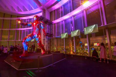 Iron Man at night