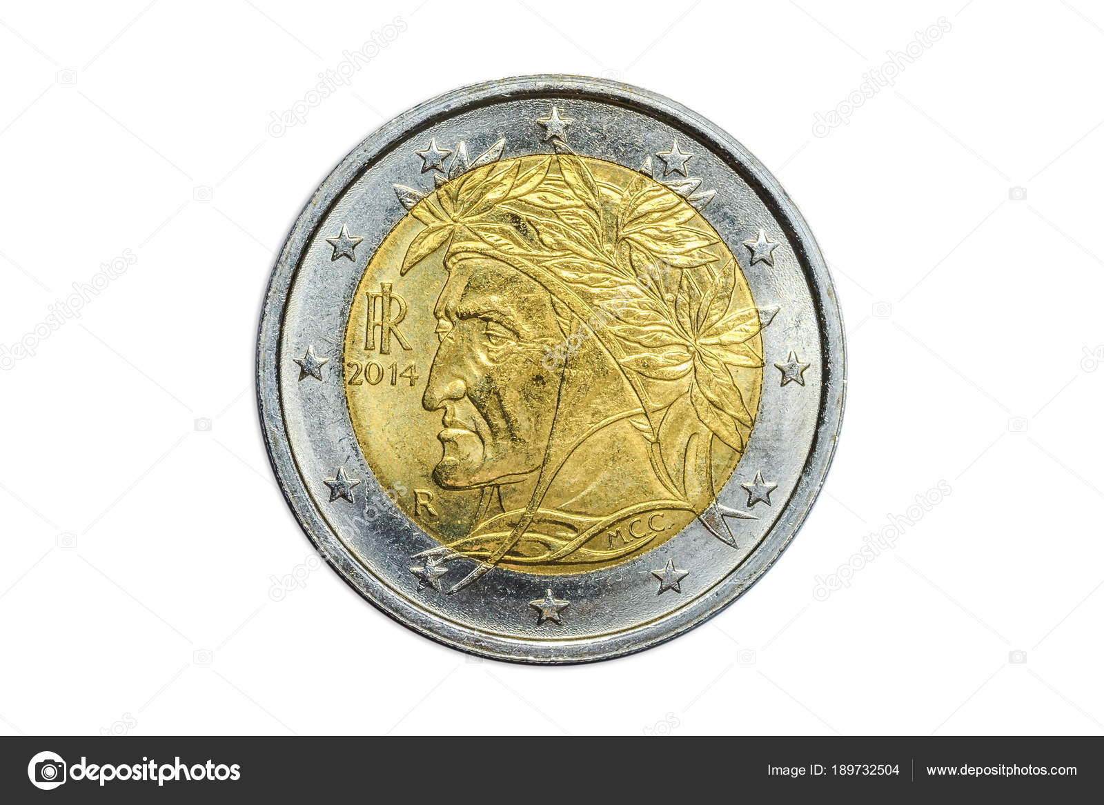 Italienische 2 Euro Münze Stockfoto Bennymarty 189732504