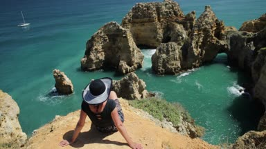 Woman at Ponta da Piedade