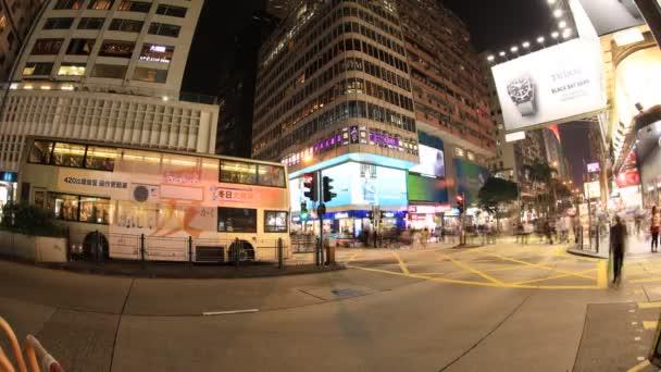 Crowd in Nathan Road of Hong Kong