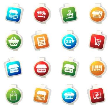 Shop icons set