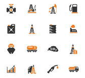Extraction of oil icons set