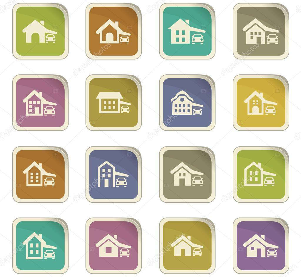 haus typ icons set stockvektor lisess 141128400. Black Bedroom Furniture Sets. Home Design Ideas