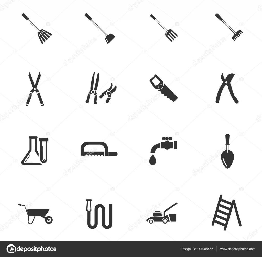 outils de jardin jeu d\'icônes — Image vectorielle Lisess © #141985456