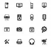Fotografia Set di icone di riparazione elettronica
