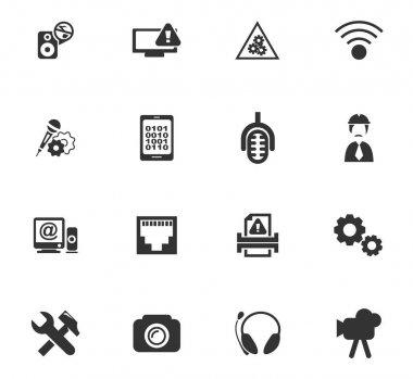 Electronics repair icons set