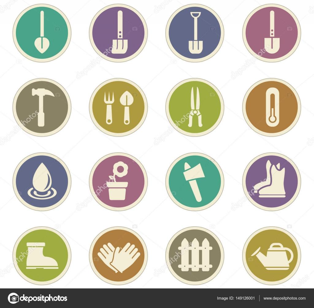 outils de jardin jeu d\'icônes — Image vectorielle Lisess © #149126001