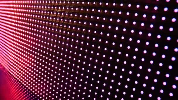 Színes izzó dióda villogó disco fények.