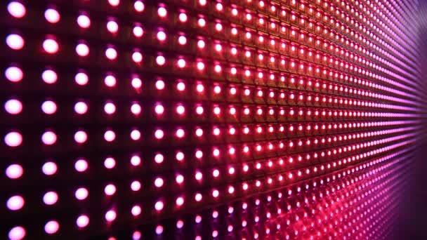 Barevné Svítící dioda blikající světla disca.