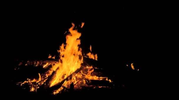 Feuer in der Natur. Bokeh aus dem Feuer.
