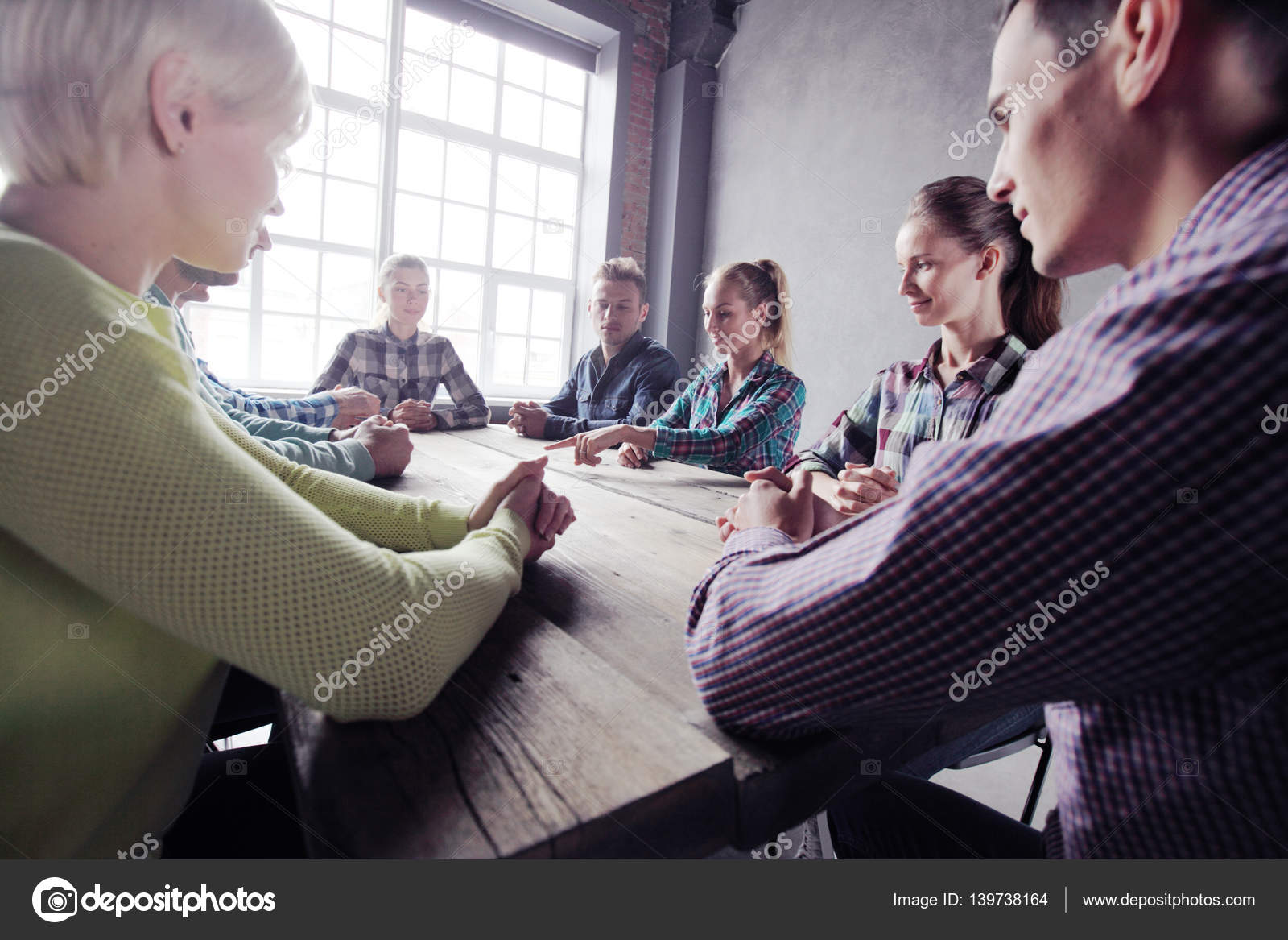 Team Of People Working Together Stock Photo Alotofpeople 139738164