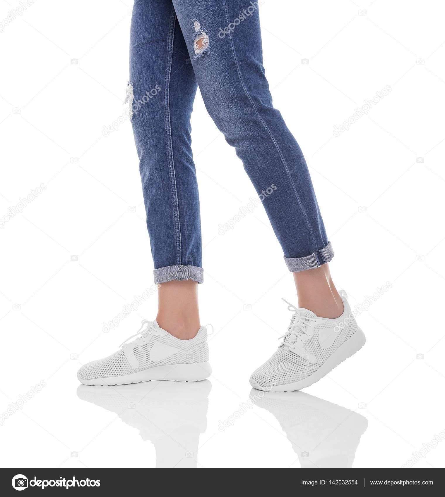 De Piernas Y Mujeres Las En Pantalones Vaqueros Zapatillas PXZkiuTO