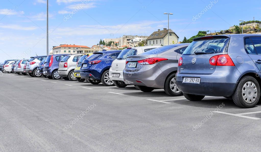 Parking cars in the port.