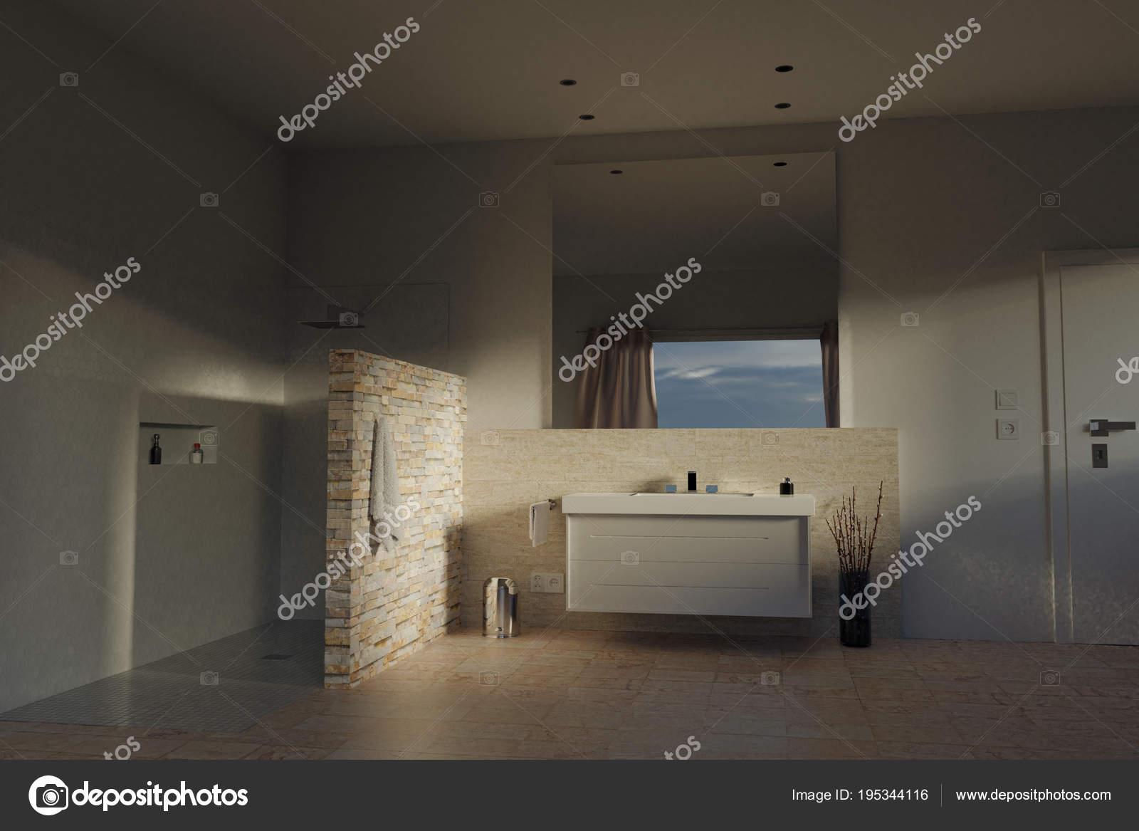 Bagni Moderni Con Pietra