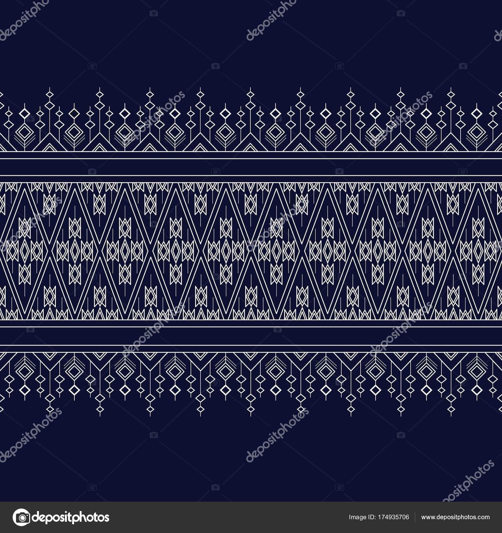 Geometric Ethnic Pattern Traditional Design Background Carpet Wallpaper Clothing Wrapping Stock Vector C Suradet3664 174935706