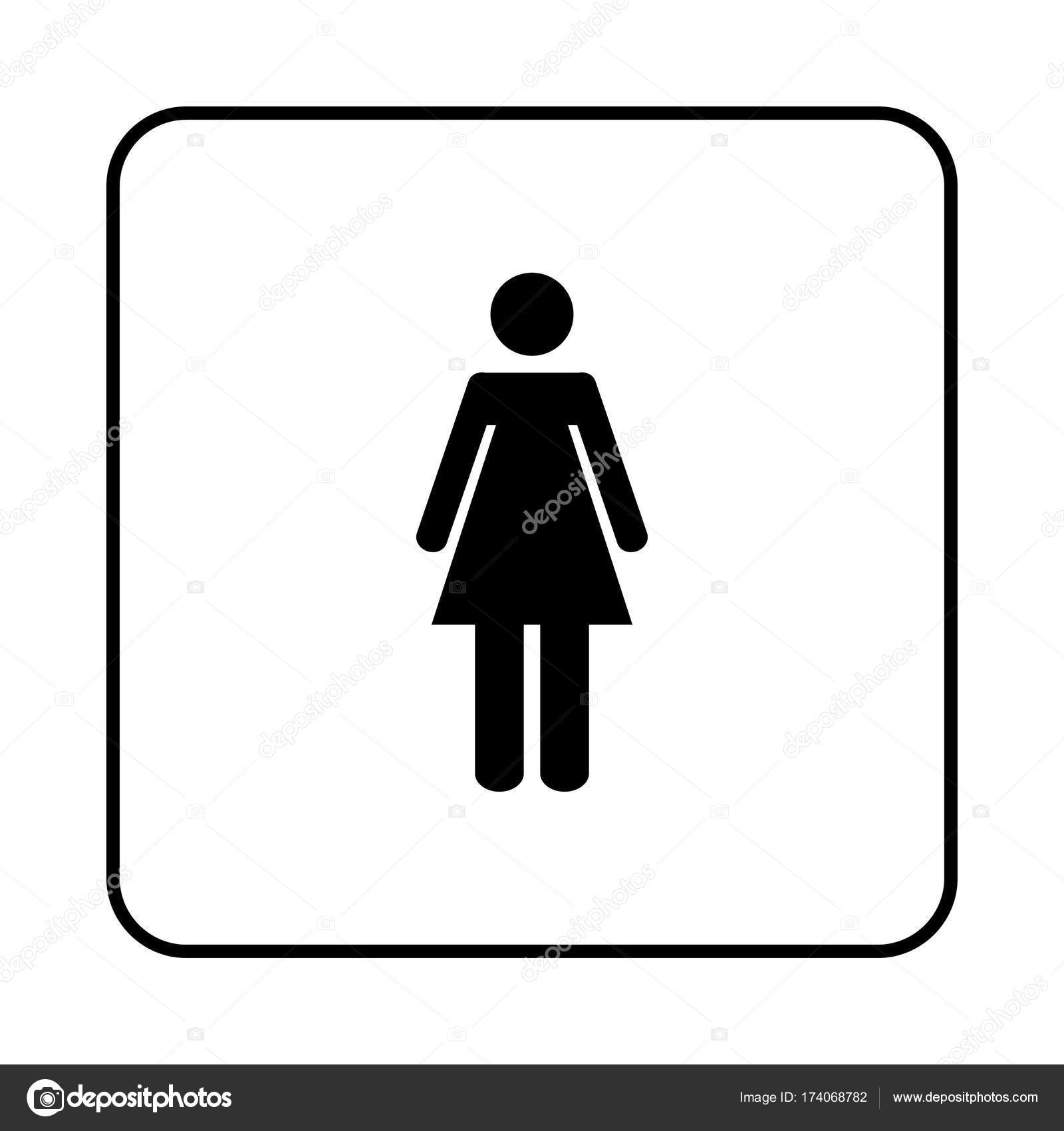 Signe de la toilette femmes de wc image vectorielle for Wc immagini
