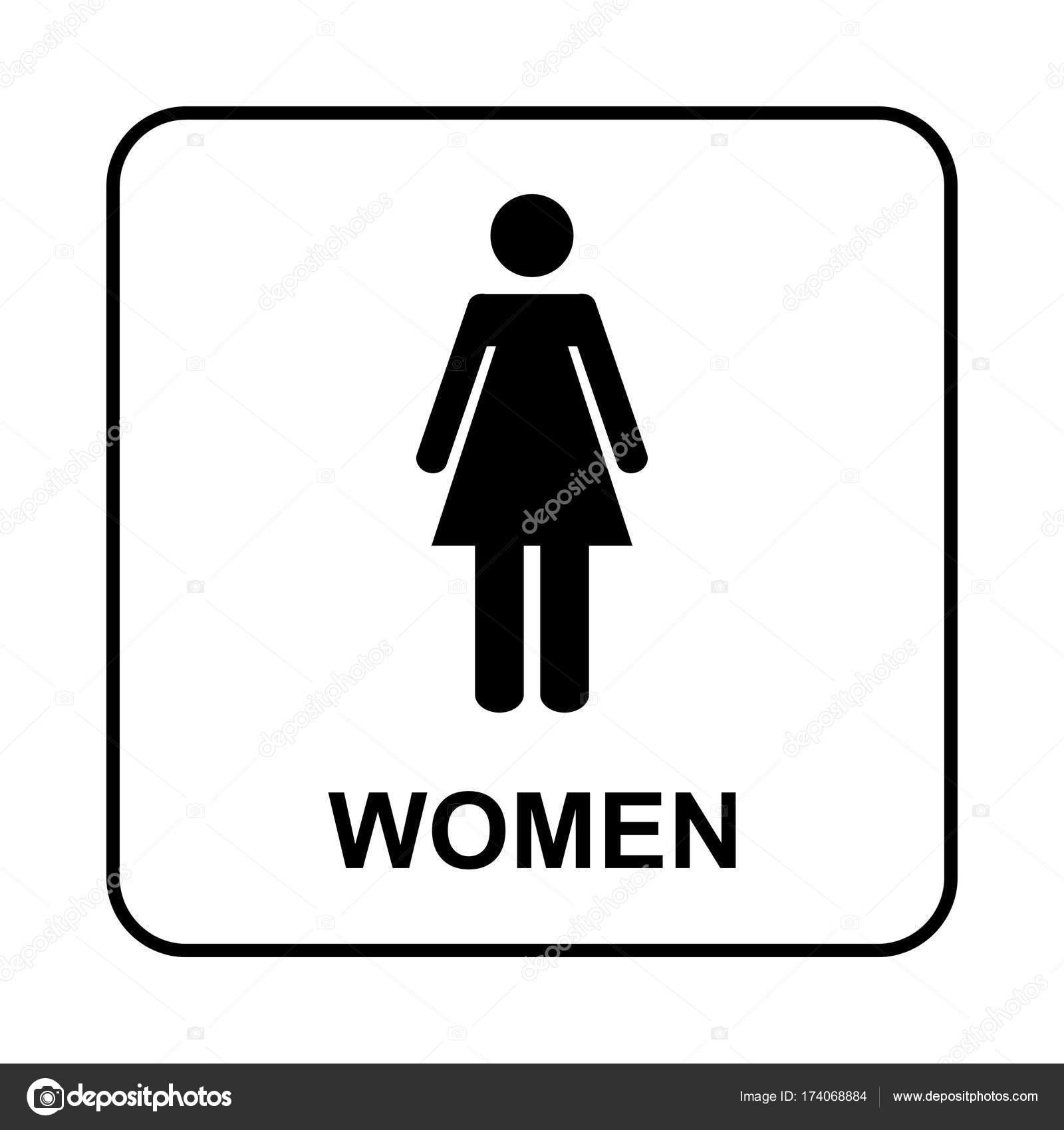Toilet sign. WC women — Stock Vector © bumerSS #174068884