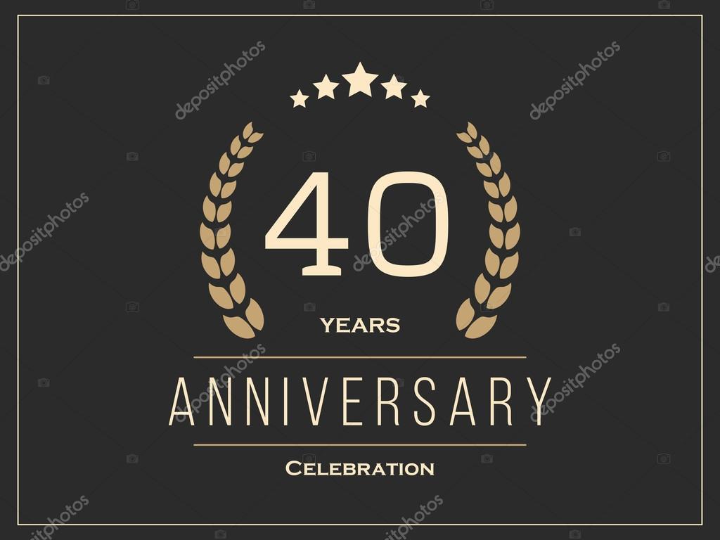 Vierzig Jahre Jubilaum Feier Logo 40 Jahriges Jubilaum Logo