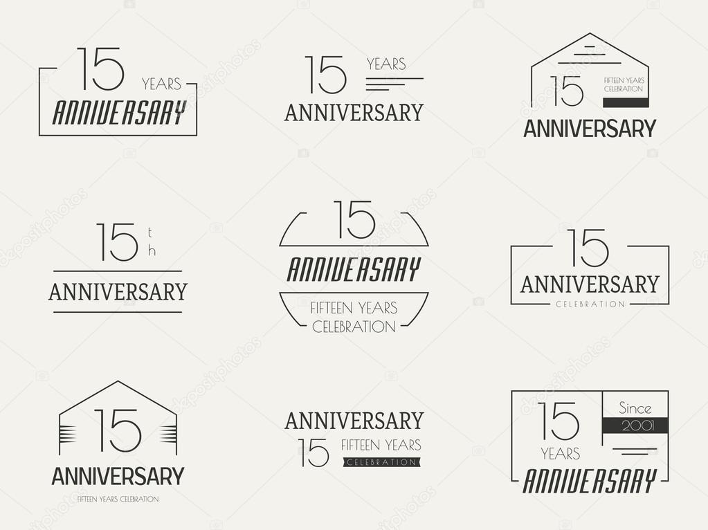 Logotipo Para 15 Anos: Logotipo De Celebración De