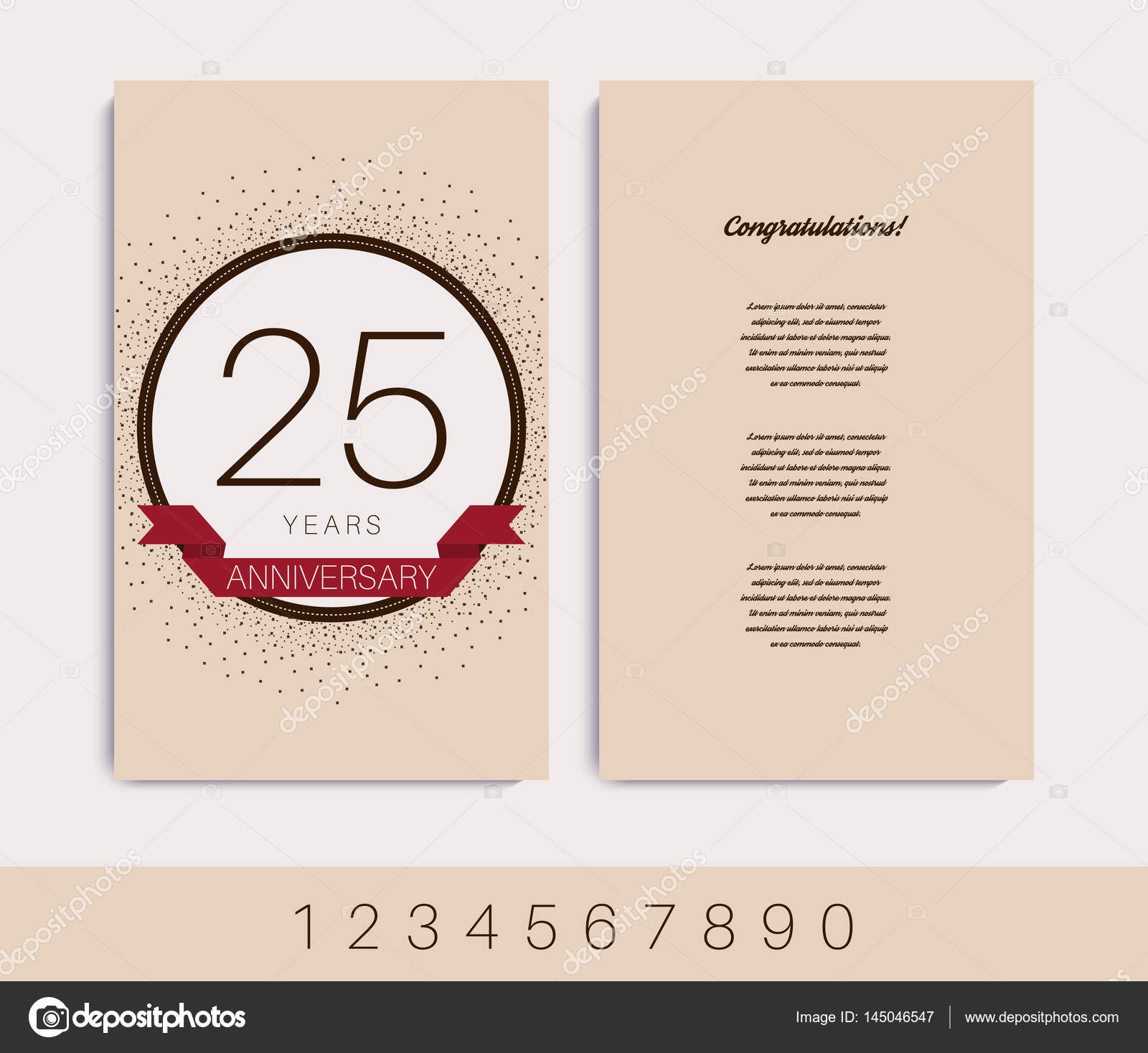 Anniversary invitationgreeting card stock vector aieps 145046547 anniversary invitationgreeting card vector illustration vector by aieps stopboris Images